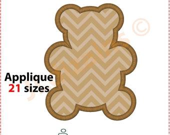 Bear Applique Design.  Bear embroidery design. Embroidery bear. Applique bear. Embroidery applique bear design. Machine embroidery design.