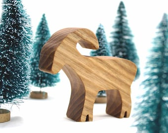 Big Horn Sheep, Mountain Goat, Mountain Animal,  Wooden Toy, Exotic Animal, Plains Animal Toy, Waldorf Animal Toy, Kids Toys