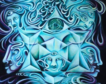 Oversoul - Fine Art Print by EmJae Lightningbug