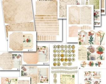 "Loaded Envelope w gusset,  5.25x 6.75 x .05"", 18 printable pages, Full tutorial, Digital, Scrapbooking, Mini Album, kit, envelope swap"