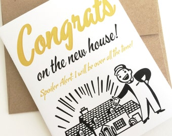 Congrats on the New House Card. Housewarming Card. First House Gift. Congratulation Card. First Time Homeowner. Moving Card. First Home Gift