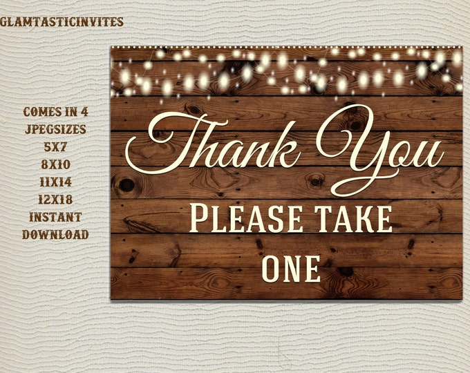 Rustic Favors Sign, Baby Shower Favors Sign, Wedding Favors Sign, Bridal Shower Favors Sign, Wedding Table sign, Digital, Rustic Sign
