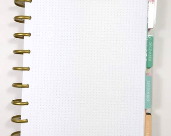 Dot Grid Inserts for Medium, Classic Happy Planner, Discbound Planner, Bullet Journal