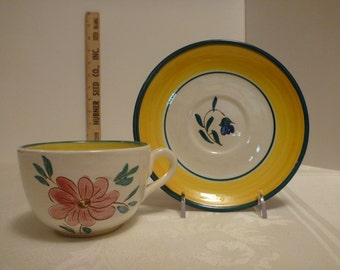 Stangl Flora Cup and Saucer #3768
