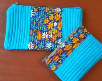Zippered pouch duo