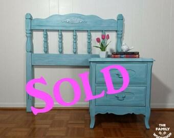 furniture refurbished. Sold Twin Headboard \u0026 Nightstand | Upcycled Refurbished Small Furniture Bedroom