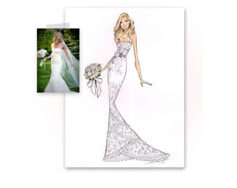 Custom Bride- Fashion Illustration