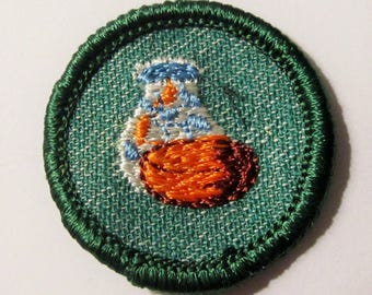 """Vintage 1950's Intermediate Girl Scout Badge """"Pottery"""""""