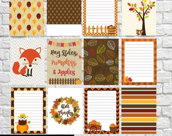 Fall Harvest Journaling Cards, Project Life Inspired Printable, Simple Stories, Digital Scrapbooking, Pocket Scrapbooking, Planner Printable