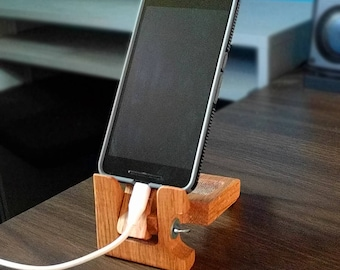 Phone Dock, Wood Phone Stand, Phone Dock, iPhone Dock, Android Dock, Universal Phone Dock, Portable Phone Dock, Adjustable Phone Dock