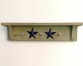 Country Primitive Coat Rack  Free Shipping!