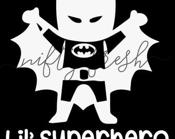 Batman Lil super héros bébé dans la voiture à bord de l'enfant infantile enfant en bas âge enfant enfants véhicule fenêtre Decal Die pare-chocs vinyle autocollant blanc