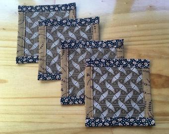 Coaster pack for 4 - EarthTones
