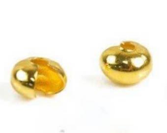 Ong crimp beads gold, set of 5