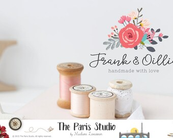 Pre-made Etsy Shop Cover Design Etsy Shop Icon Etsy Shop Logo Watercolor Floral Logo Text Logo Pre-made Wordpress Header Blog Header Design