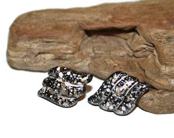 Paint Splatter EARRINGS, Paint Splatter Jewelry, Vintage Splatter EARRINGS, Vintage Costume Jewelry, 80s Earrings, 80s Jewelry