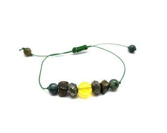 Abundance Bracelet, Prosperity Bracelet, Adjustable Mala, Adjustable Bracelet, Citrine Bracelet, Yoga bracelet, Energy Bracelet, Wrist Mala