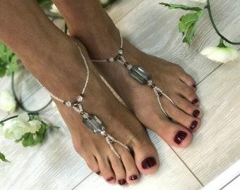 GLASS SMOKE BAREFOOT sandals