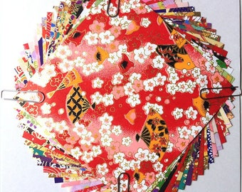 Japanese WASHI paper Origami YUZEN Chiyogami, 20 sheets, 10x10cm (Y017B)