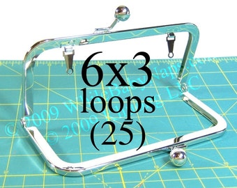 30% OFF 25 Nickel-free 6x3 purse frame(TM) with LOOPS