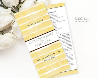 Sunflower Fields - Wedding Programs (Style 13627)