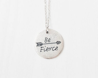 Be Fierce Necklace | BFF | Best Friends | Festival jewellery | Positive Vibes