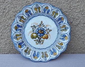Ancienne assiette espagnol murale  ceramique danseurs de flamenco signature CRESPO   année1986 numérotés 1260