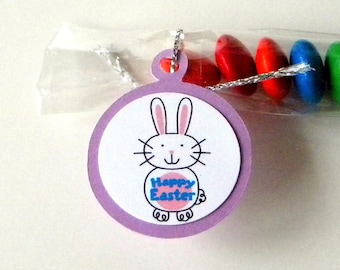 Happy Easter Candy Favor Treat Bags, Set of 12, Bunny