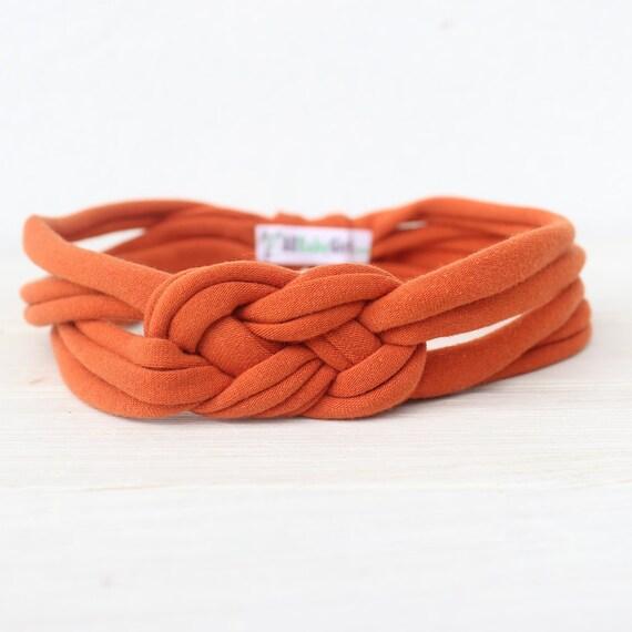 Baby Turban Headband, Pumpkin Orange Headband, Orange Turban Headband , Toddler Headband, Knot Headbands, Baby Headbands