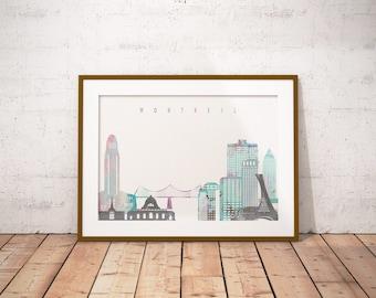 Montreal Print, Skyline Art Print, Poster, Modern Wall Art, New Home, Housewarming Gift, Digital Download