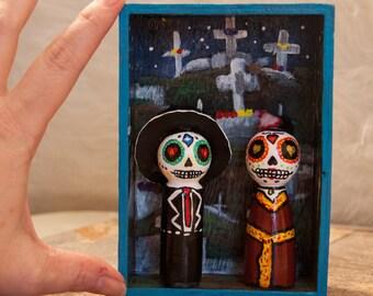 Day of the Dead, Dia De Los Muertos Couple Altar