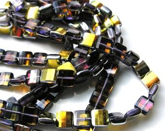 Tanzanite Marea 9mm Fire Polish Pillow Beads  15
