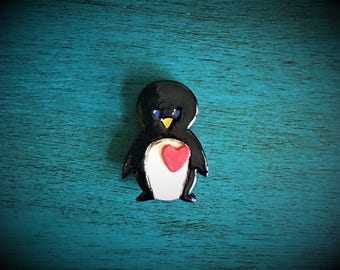 Ceramic Penguin Magnet