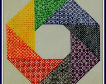 Prisma - embroidery pattern