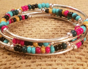 Southwestern Style Memory Wire Bracelet