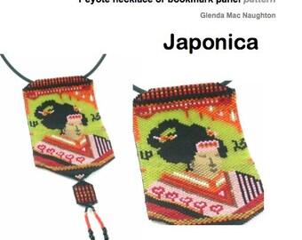 Japonica Peyote beaded panel PDF: Instant Downloadable Pattern PDF File