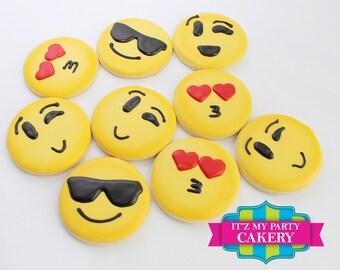 Emoji Face Cookies - 1 Dozen