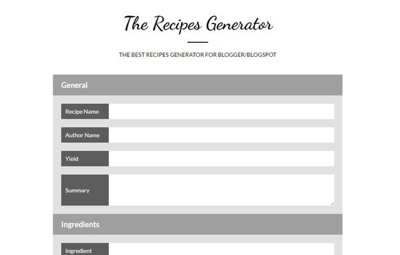 Recipes generator beautiful recipe cards for your recipes recipes generator beautiful recipe cards for your recipes perfect for food blogs on any blogging platform forumfinder Choice Image
