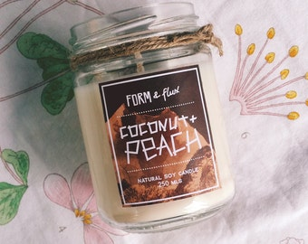 Coconut & Peach - Jam Jar Candle