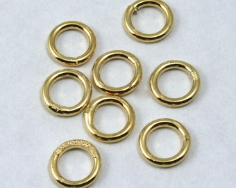 6mm Gold Soldered Jump Ring #RJA022