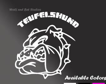 Vinyl Decal - Marine Corps Decal - Teufelshund Decal