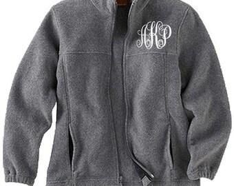 Monogrammed Full Zip Jacket, Monogrammed Fleece Jacket, Monogrammed Full Zip, Monogrammed Jacket, Kids,