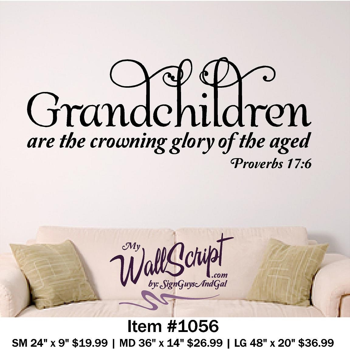Grandchildren Home Wall Decal Picture Wall Decal Bible Verse - Wall decals bible verses