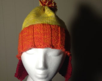 Not at all like Jayne's hat #54 doubled Merino wool yarn.