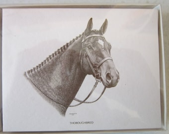 Thoroughbred Boxed Note Cards-10 Cards/10 Envelopes Per Box