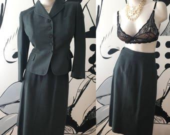 1940s Vintage 2 Piece Skirt Suit
