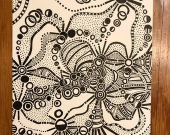 Abstract Shape & Line Drawing - Print