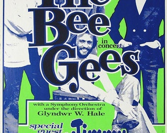 THE BEE GEES Concert Poster - Giclee Reproduction Full Colour Wall Art Print