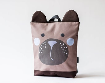 Bear backpack, Kids backpack, Children backpack, Printed waterproof backpack