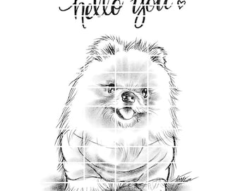 Little Fluffball Hello You - instant download digital stamps by Tierra Jackson